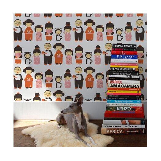 Aimee Wilder Designs Kiki 15' x 28'' Figural Wallpaper