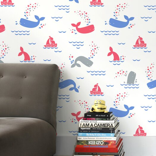 Aimee Wilder Designs 15' x 28'' Whalentine Wallpaper