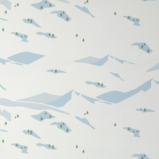 "Aimee Wilder Designs Analog Snow 15' x 27"" Scenic Wallpaper"
