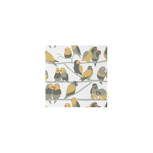 "Aimee Wilder Designs Analog 15' x 27"" Lovebirds Wallpaper"