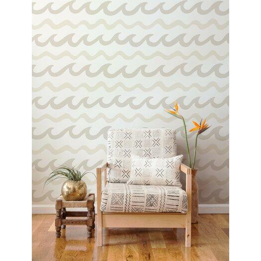 "Aimee Wilder Wallpaper: Aimee Wilder Designs Swell 15' X 28"" Chevron Wallpaper"