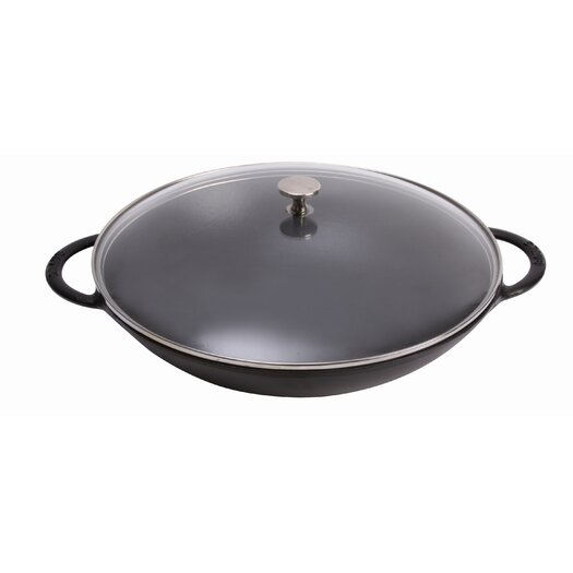 Staub 6 Qt Specialty Wok with Handles in Black
