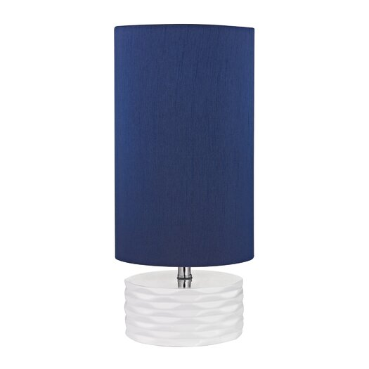 """Dimond Lighting 17.5"""" H Table Lamp with Drum Shade"""