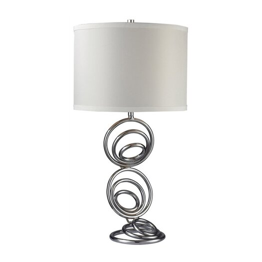 """Dimond Lighting Franklin Park 26"""" H Table Lamp with Drum Shade"""