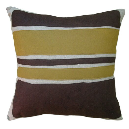 Balanced Design Applique Block Linen Throw Pillow
