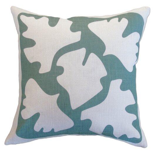 Balanced Design Hand Printed Shade Linen Throw Pillow