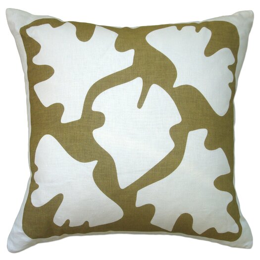 Balanced Design Hand Printed Shade Linen Throw Pillow