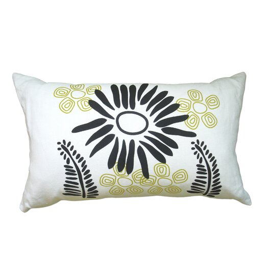 Hand Printed Fern Linen Throw Pillow