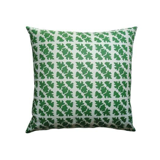 Balanced Design Hand Printed Shade Check Cotton Throw Pillow
