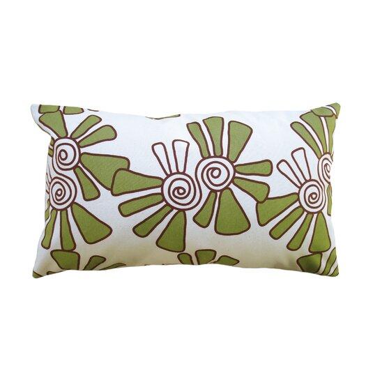 Balanced Design Hand Printed Canvas Alex Cotton Throw Pillow