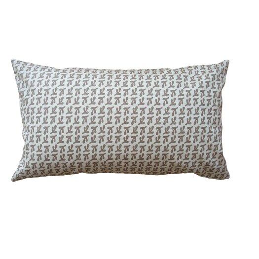 Balanced Design Hand Printed Birds Feet Cotton Throw Pillow