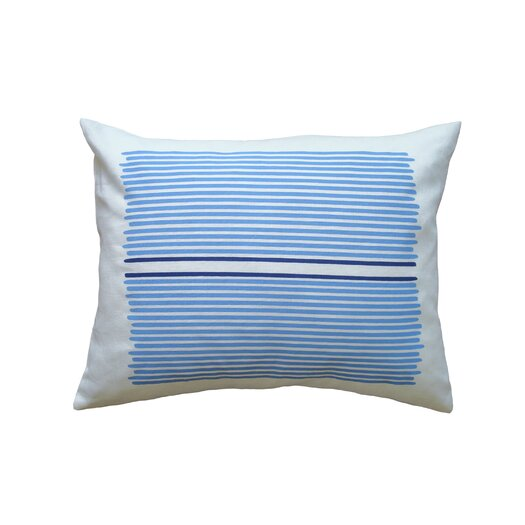 Balanced Design Hand Printed Louis Stripe Cotton Throw Pillow