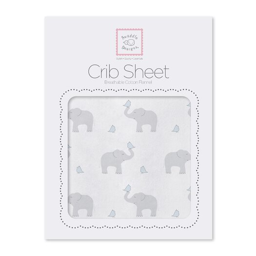 Elephant & Chickies Cotton Fitted Crib Sheet