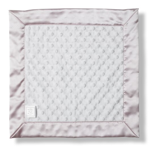 Swaddle Designs Baby Lovie Plush Dot Blanket with Pastel Trim