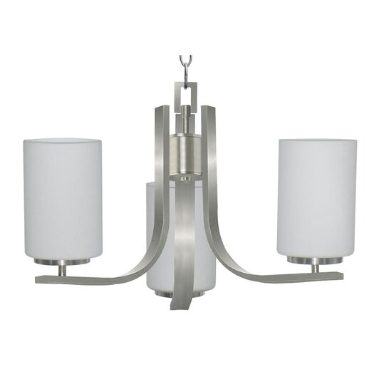 Yosemite Home Decor Panorama Trail 3 Light Chandelier