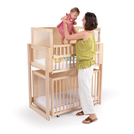 Whitney Brothers Space Saver 2 Level Convertible Crib with Mattress