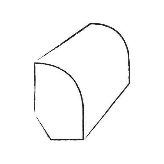 "Teragren 0.75"" x 0.5"" x 74"" Base/Shoe Molding"