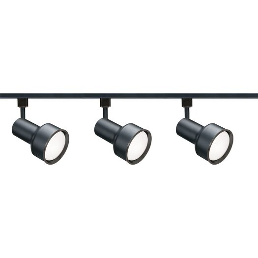 Nuvo Lighting Three Light Step Cylinder Track Light Kit in Black