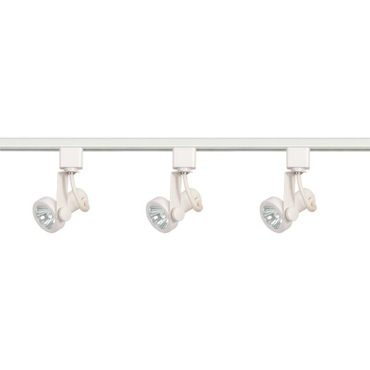 Nuvo Lighting Three Light Kit Line Voltage Gimbal Ring Track Light in White