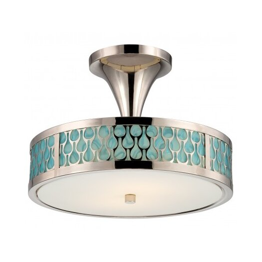 Nuvo Lighting Raindrop 2 Light Semi-Flush Mount