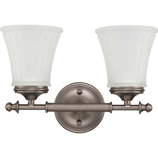 Nuvo Lighting Teller 2 Light Bath Vanity Light