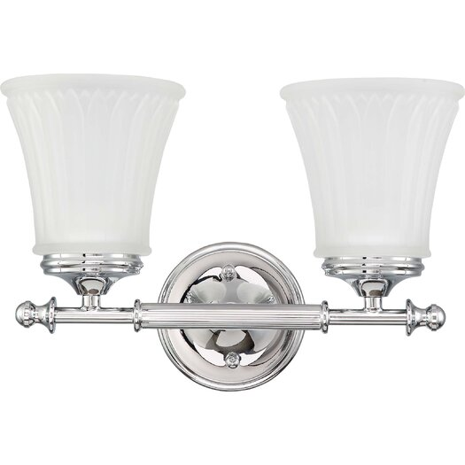Nuvo Lighting Teller 2 Light Bath Vanity Light