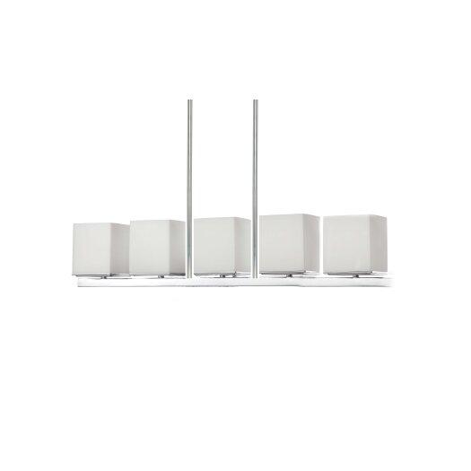 "Nuvo Lighting Bento 5.625"" 5 Light Kitchen Island Pendant"