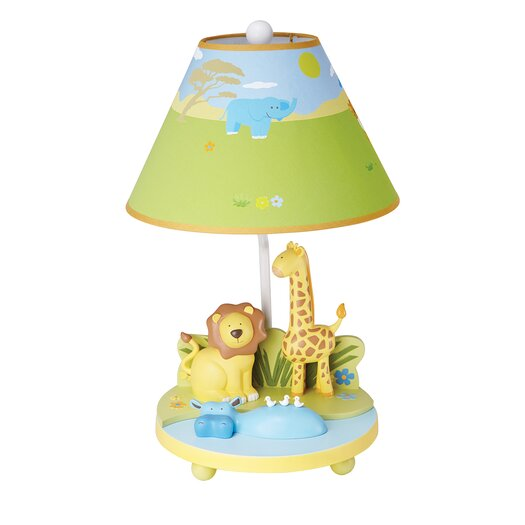"Guidecraft Savanna Smiles 19"" H Table Lamp with Empire Shade"