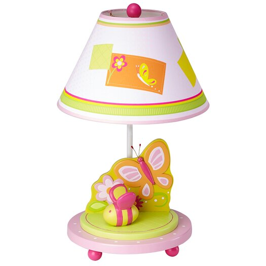 """Guidecraft Gleeful Bugs 19"""" H Table Lamp with Empire Shade"""
