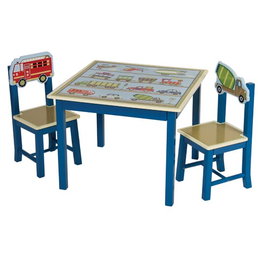 Guidecraft Moving All Around 3 Piece Kids Table & Chair Set