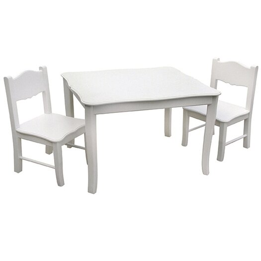 Guidecraft Classic Kids 3 Piece Table & Chair Set