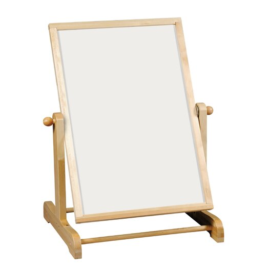 Guidecraft Big Swing Message Free Standing Whiteboard, 4' x 3'