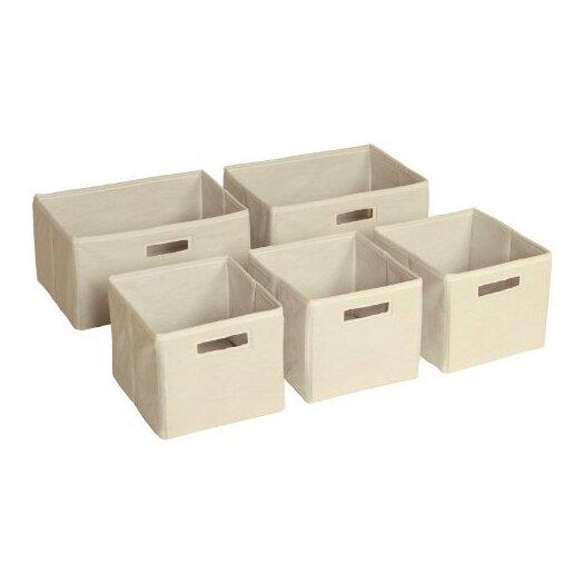 Guidecraft 5 Piece Toy Storage Bin Set