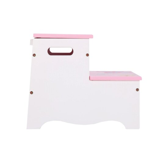 Guidecraft Butterfly Buddies 2-Step Manufactured Wood Storage Step Stool with 200 lb. Load Capacity