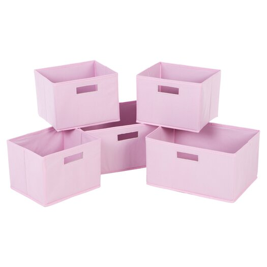 Guidecraft 5 Piece Classic Pink Basket Set