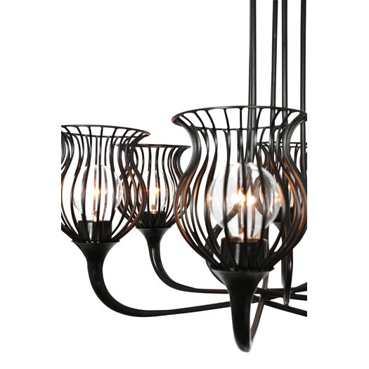Varaluz Encaged 6 Light Mini Chandelier