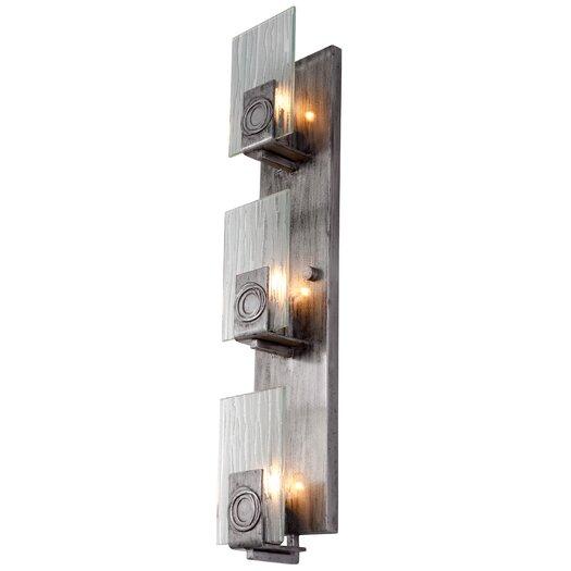 Varaluz Polar 3 Light Vertical Recycled Wall Sconce