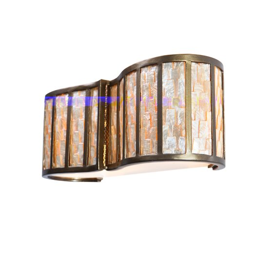 Varaluz Affinity Sustainable Shell 2 Light Bath Vanity Light