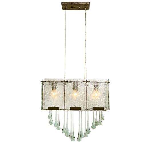 Varaluz Rain Drops 3 Light Linear Pendant