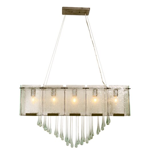 Varaluz Rain Drops 5 Light Linear Pendant