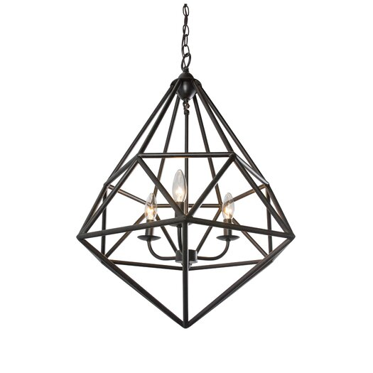Varaluz Facet 3 Light Pendant