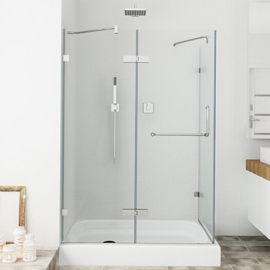 Vigo Monteray 36 x 48-in. Frameless Shower Enclosure with .375-in. Clear Glass and Chrome Hardware