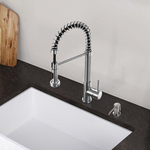 vigo edison single handle pull down spray kitchen faucet vigo vg02022 laurelton pull out spray kitchen faucet