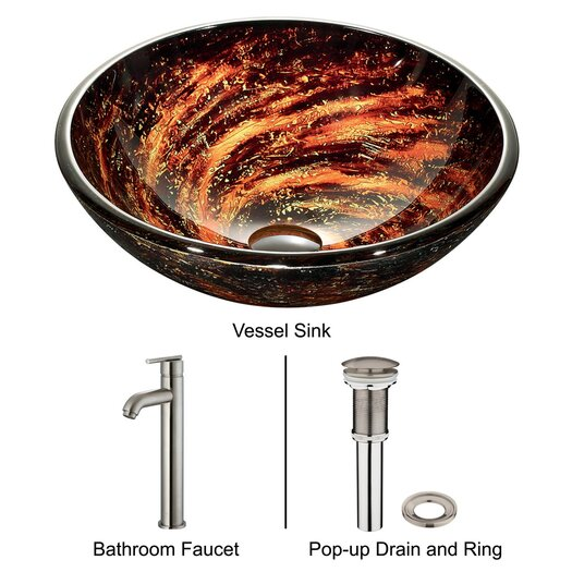 Vigo Northern Lights Vessel Sink with Faucet