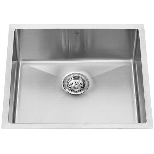 """Vigo 23"""" x 20"""" 16 Gauge Undermount Kitchen Sink"""