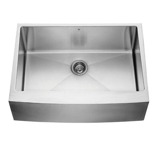 """Vigo 30"""" x 22.25"""" Farmhouse Kitchen Sink"""