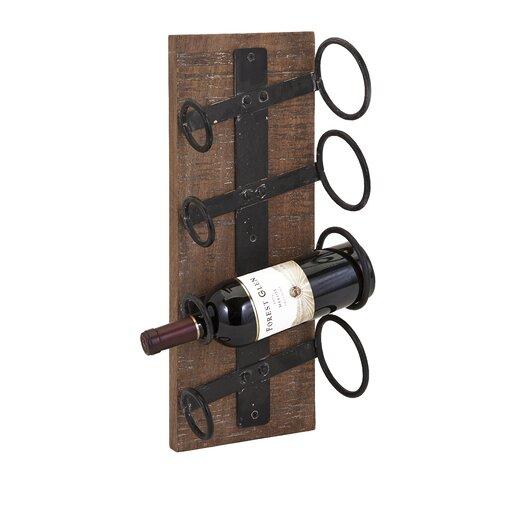 Imax Garrett 4 Bottle Wall Mounted Wine Rack Allmodern