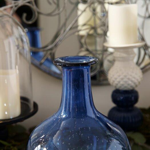 IMAX Regatta Large Glass Bottle in Blue