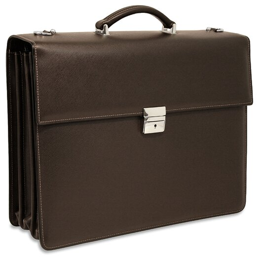 Jack Georges Prestige Triple Leather Laptop Briefcase