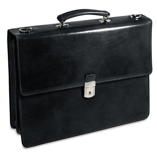 Jack Georges Sienna Triple Gusset Leather Briefcase